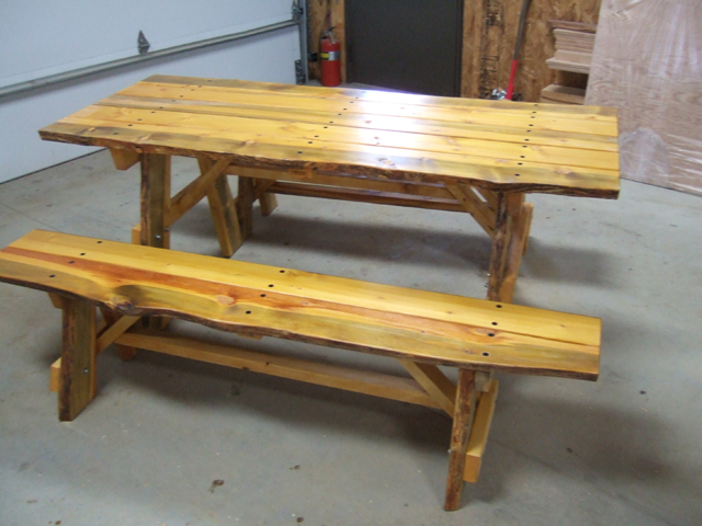 Unique picnic table 28 images hand crafted picnic for Unusual table plans